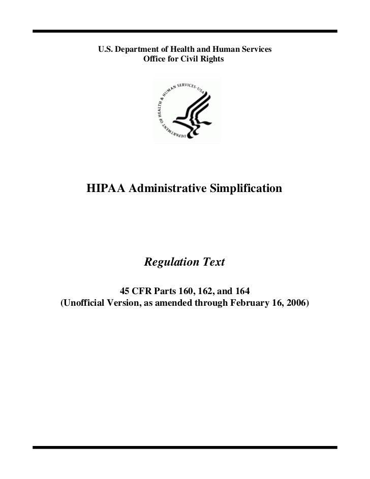 HIPAA Regs