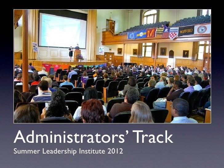 Admin track presentations SLI 2012