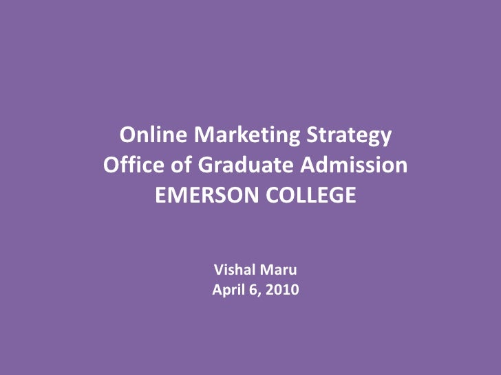 Online Marketing Strategy - Emerson College