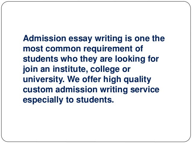 THE BEST ADMISSION ESSAY WRITING SERVICE