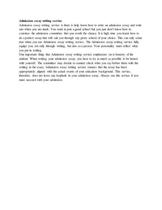 Admission essay writing essay