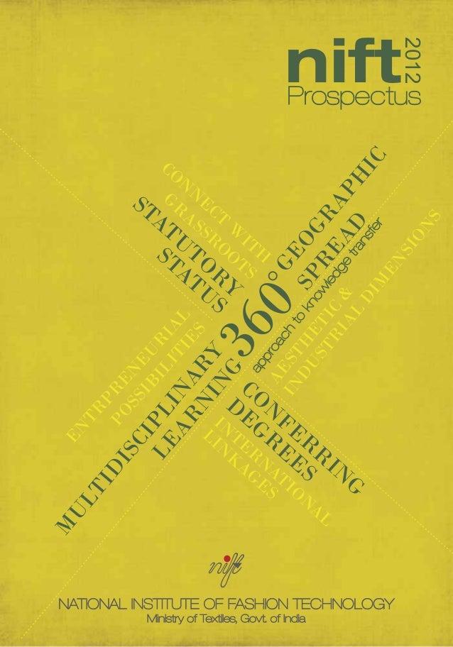 NIFT Prospectus 2012
