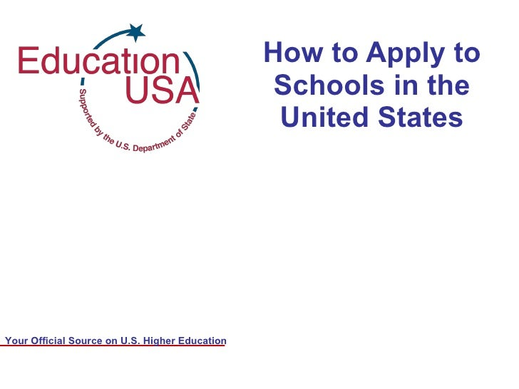How to Apply to Schools in the United States