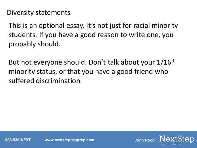 diversity law school essay