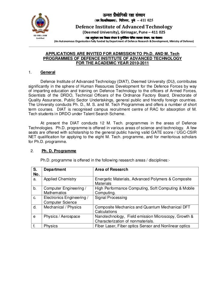 Admission to ph_d_m_tech_2010_2011- diat