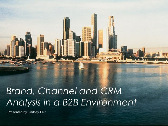 Brand, Channel and CRMAnalysis in a B2B EnvironmentPresented by Lindsey Fair