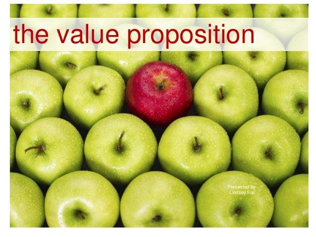 the value propositionPresented byLindsey Fair