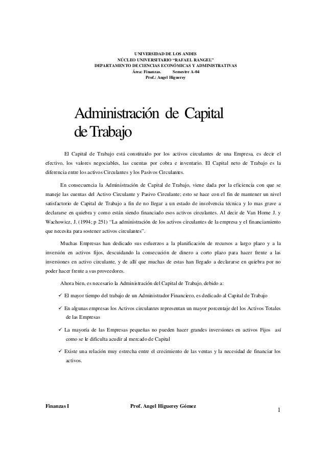 Admon del capital de trabajo (1)