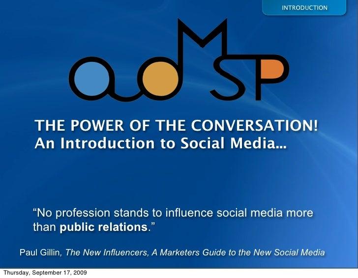ADMSP Introduction to Social Media Tutorial