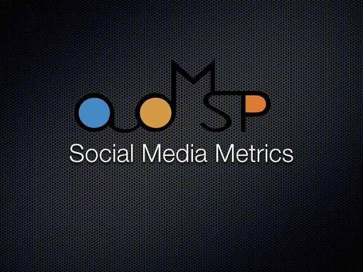 ADMSP Social Media Metrics Tutorial