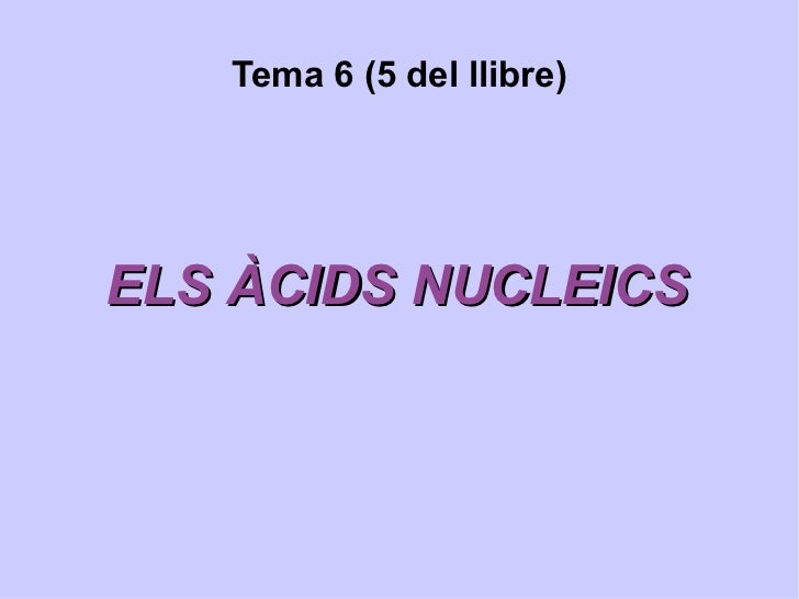 Àcids Nucleics