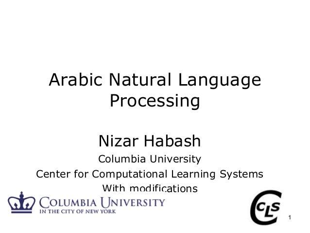 Habash: Arabic Natural Language Processing