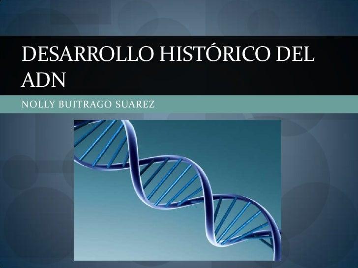 DESARROLLO HISTÓRICO DELADNNOLLY BUITRAGO SUAREZ