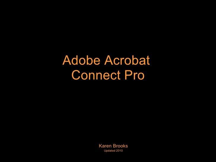 Adobe Acrobat Connect Pro 2010
