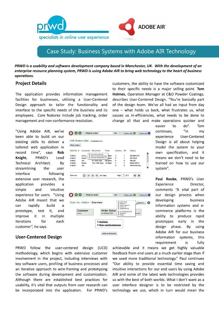 PRWD Case Study: Business Systems with Adobe AIR