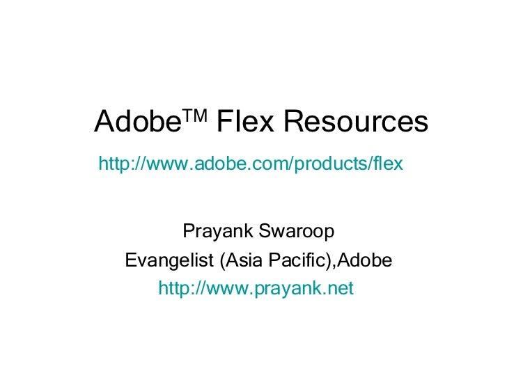 Adobe Flex Resources