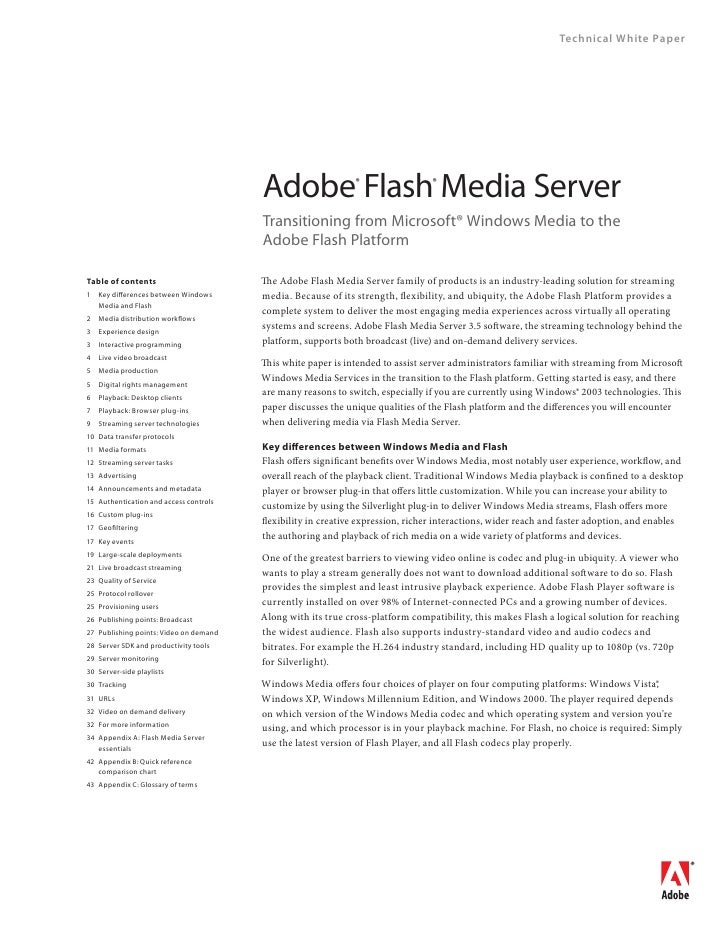 Technical White Paper                                             Adobe Flash Media Server                                ...