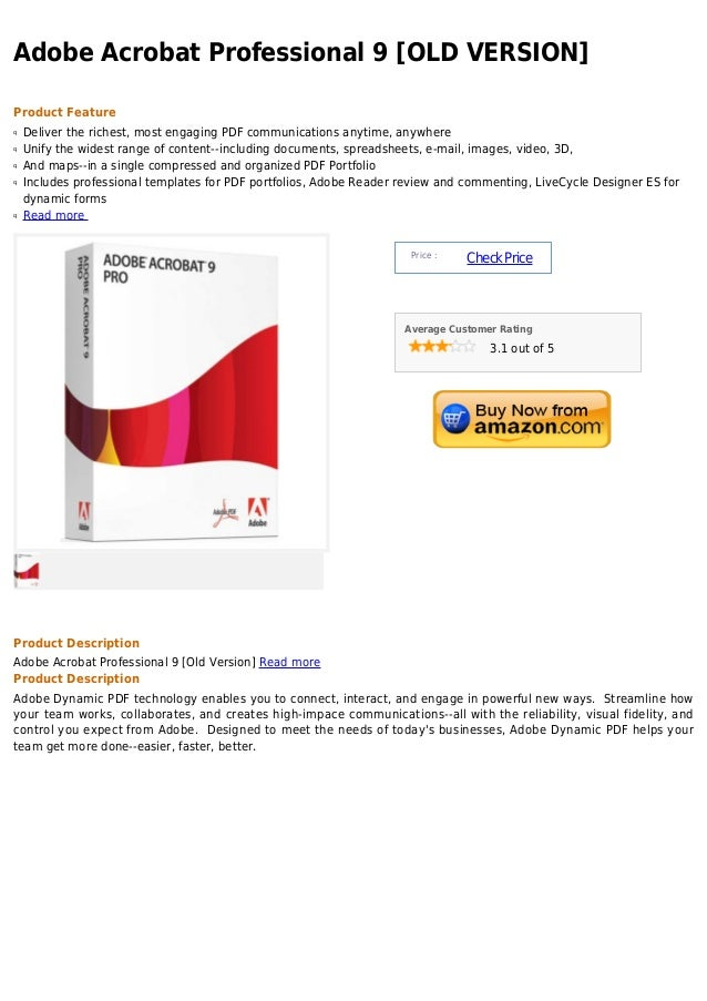 Adobe acrobat professional 9 [old version]
