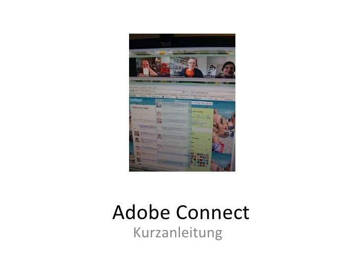 Adobe Connect Kurzanleitung