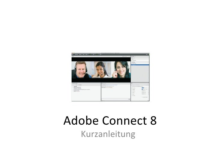 Adobe Connect 8 Kurzanleitung