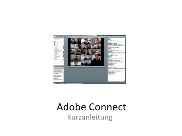 Adobe Connect Kurzanleitung