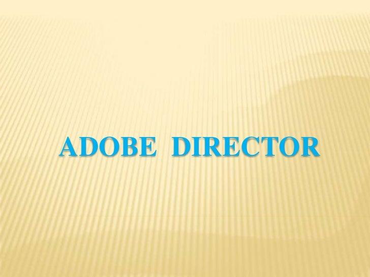 Adobe director   yupanqui - b2
