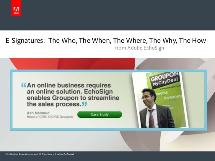 E-Signatures: The Who, The When, The Where, The Why, The How                                                              ...