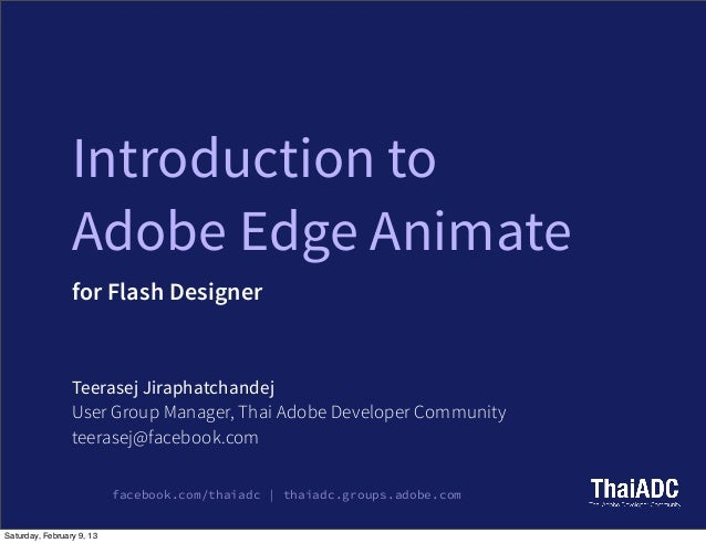 Adobe edge animate for flash designer