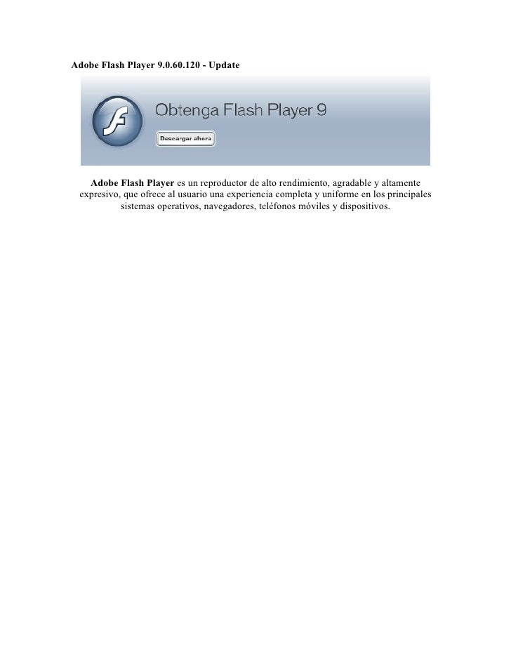 descargar adobe flash player 9.0 gratis