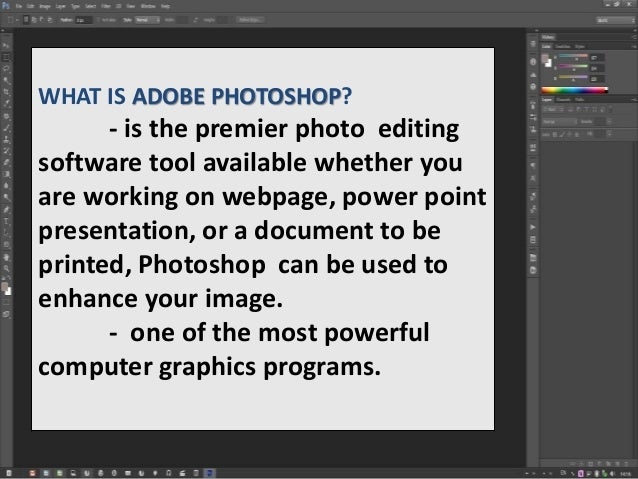 Photo editing service tools in photoshop