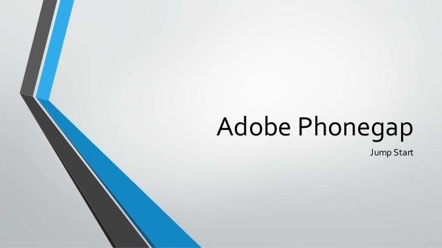 Jump Start Adobe Phonegap @ DevRioClaro
