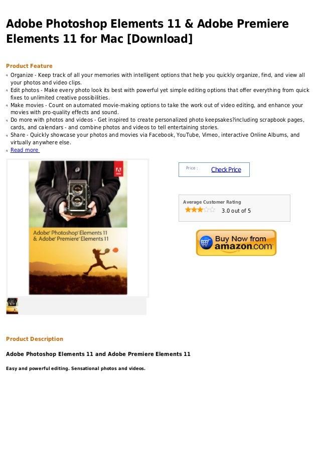 Adobe photoshop elements 11 & adobe premiere elements 11 for mac [download]