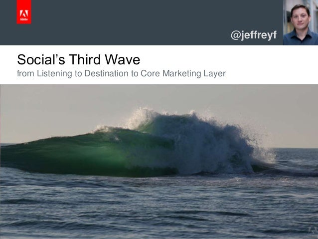 © 2013 Adobe Systems Incorporated. All Rights Reserved. Adobe Confidential. Social's Third Wave from Listening to Destinat...