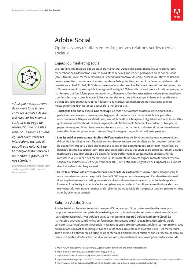 Adobe Social solution overview PDF (French)
