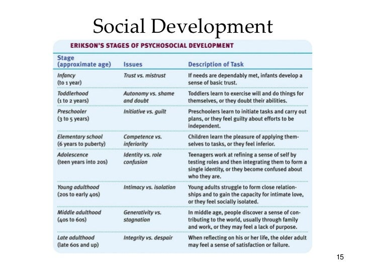 The Relationship between Physical Cognitive and Social Emotional Development in Humans