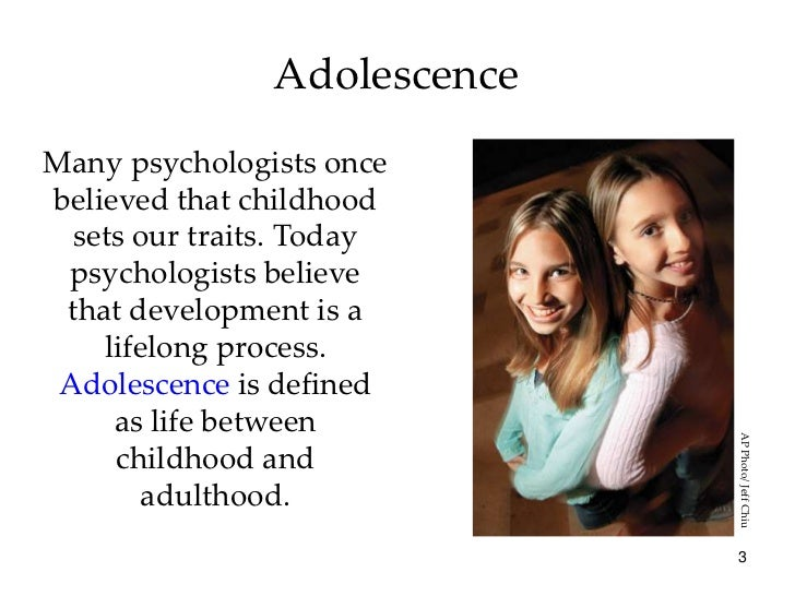 the adolescence and behaviorism in the psychology