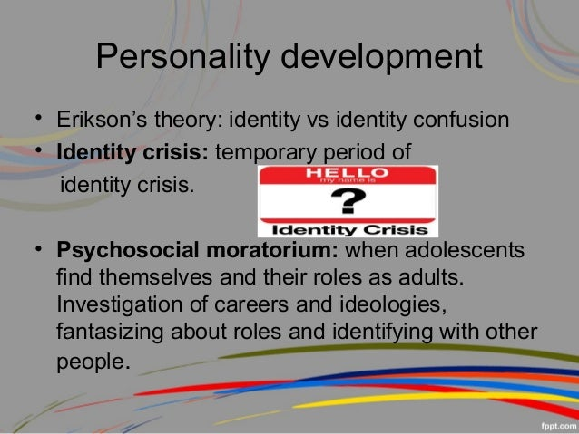 thesis on identity crisis Hi, i'm writing an essay on the consequences of the lack of self-identity so far this is my thesis statement: the inability to obtain one's truest.