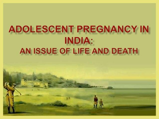Adolescent Pragnancy in India