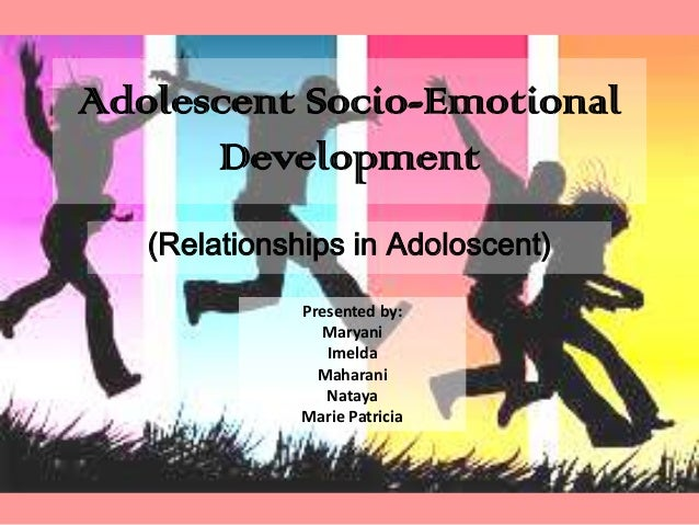 socio emotional issues in adolescence Young minds matter: the second australian child and adolescent  a range of  mental disorders, socio-demographic characteristics and risk taking behaviour   youth who suffered from emotional problems or high levels of.