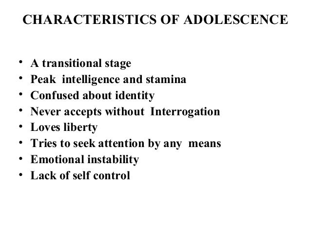 characteristics of emotional and psychological development of adolescence pdf