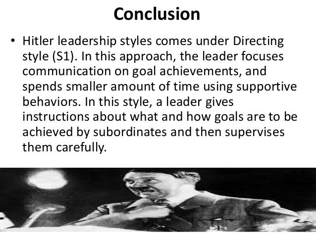 how hitlers leadership style lost the