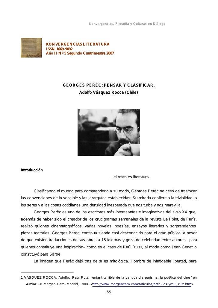 Konvergencias, Filosofía y Culturas en Diálogo               KONVERGENCIAS LITERATURA               ISSN 1669-9092        ...