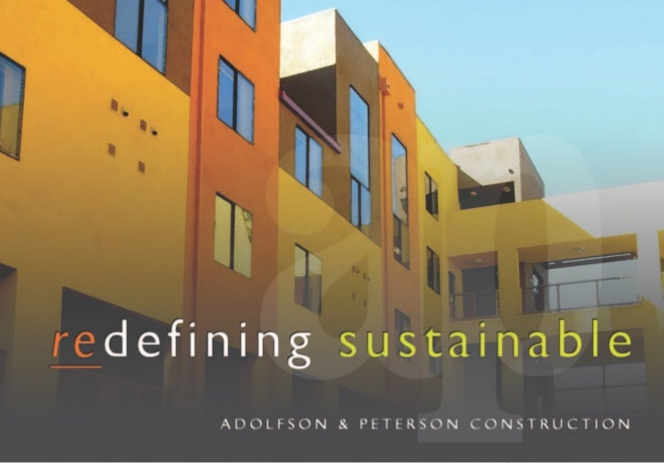 Redefining Sustainable