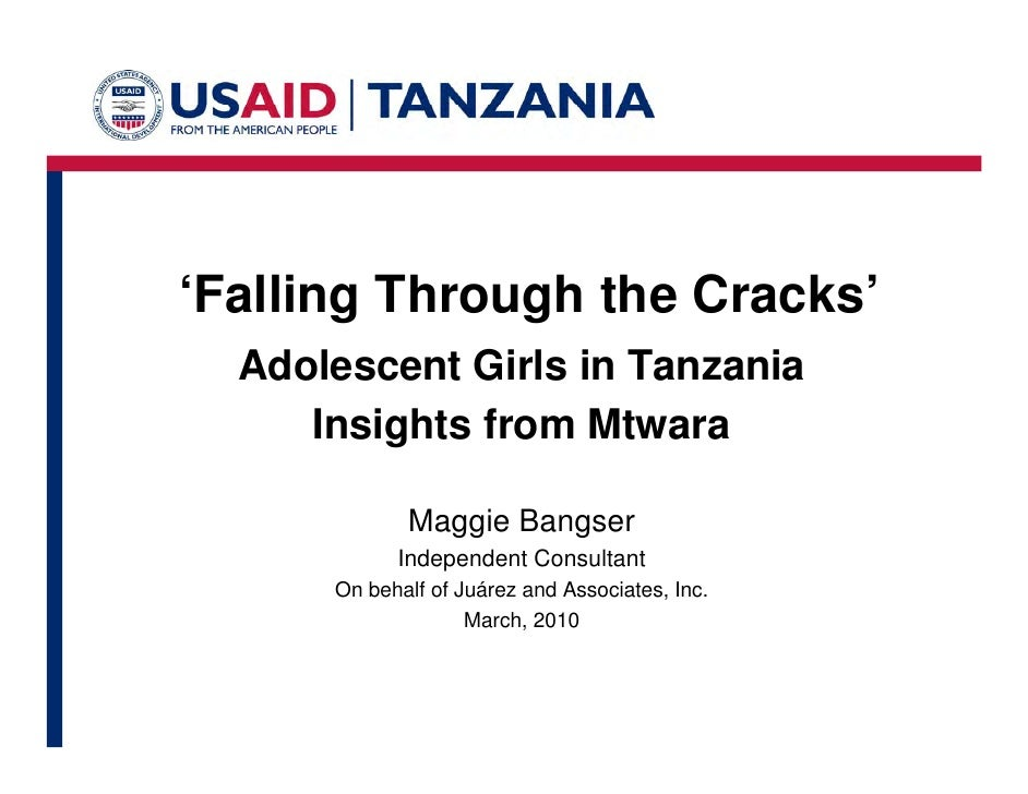 'Falling Through the Cracks' Adolescent Girls in Tanzania Insights from Mtwara