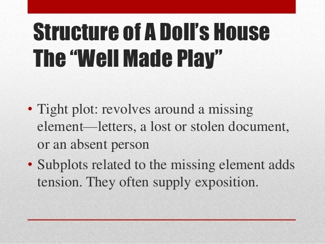 foil characters in a dolls house Symbolism in a doll's house symbolism is one of the literary devices commonly used in drama the symbol imparts the hidden meanings other than the apparent ones and also shows the emotional effects on the characters.