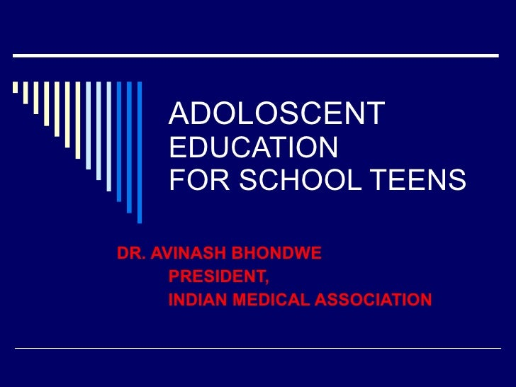 Adoloscent education