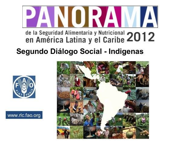 Segundo Diálogo Social - Indigenas  www.rlc.fao.org  2012