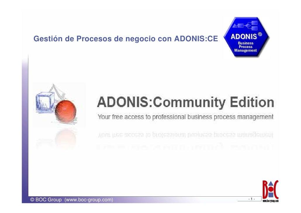 Gestión de Procesos de negocio con ADONIS:CE     © BOC Group (www.boc-group.com)                 -1-