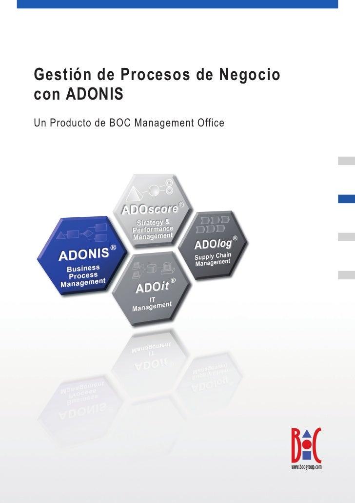 Gestión por procesos con ADONIS