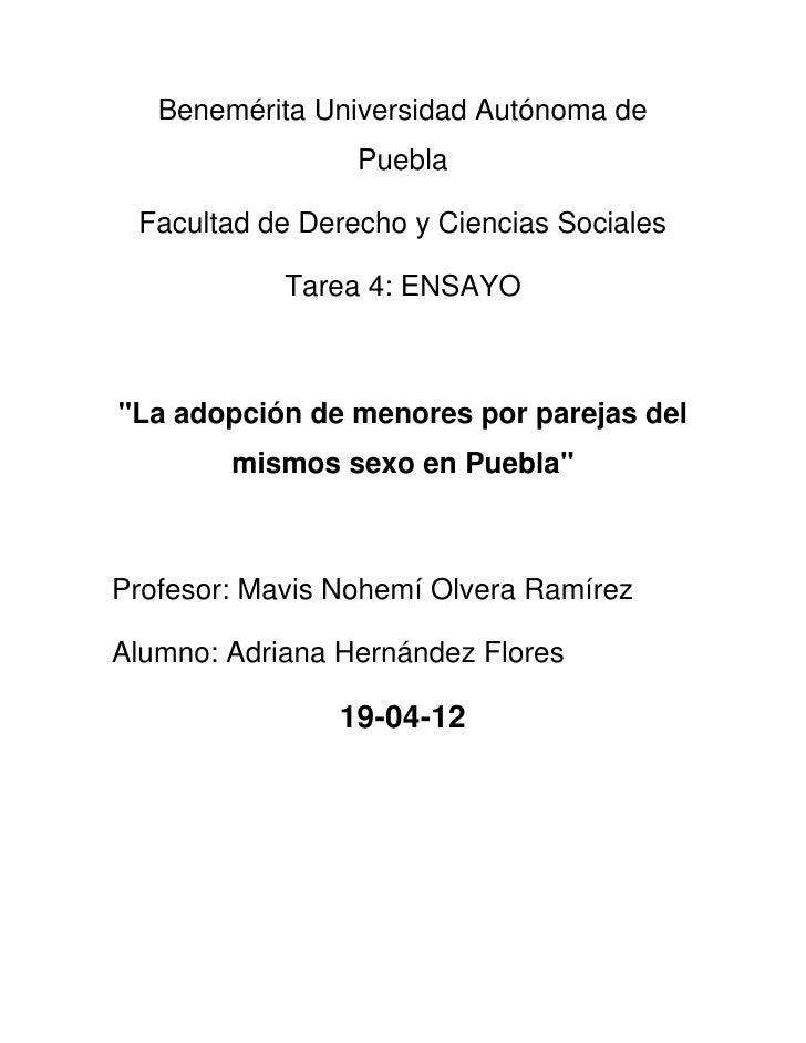 Benemérita Universidad Autónoma de                 Puebla Facultad de Derecho y Ciencias Sociales            Tarea 4: ENSA...